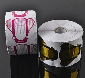 1 Takım (100 adet) / lot için Profesyonel Altın Gül Kırmızı Tırnak Formu Akrilik UV Jel Tırnak Uzantıları Etiketler Formları Nail Art Aracı