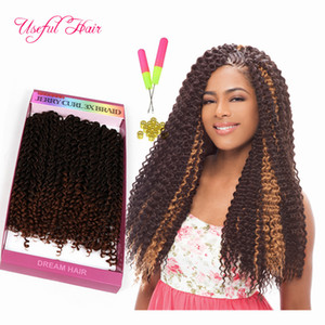 hot selll freetress synthetic braiding hair pre looped savana jerry Curly Braids Hair Extensions Ombre Hair Weaves Brazilian Texture Curly
