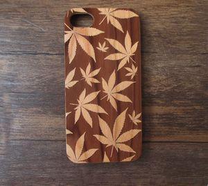 Diseño atractivo Real Wood Funda de teléfono móvil Funda de bambú duro Funda de móvil de madera para iPhone 7 6 6s más Samsung