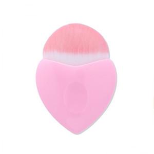Nuevo rosa en forma de corazón cepillos de maquillaje Powder Blush Foundation herramienta de cepillo de maquillaje cosmético corazón lindo Contour BB Cream cara maquillaje herramienta de pincel
