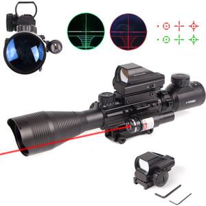 홀로그램 4 레티클 사이트 레드 레이저를 사용하여 소총 범위 4-12X50 EG 조준