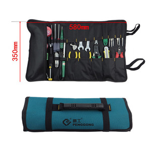 Wholesale-Oxford Cloth Bag for Tools Electrician Portable Rolling Tool Bags Portable Durable Waterproof With Tool Belt G type