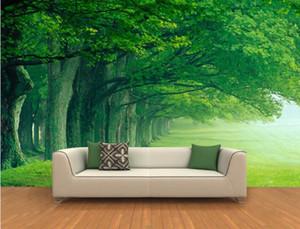 Wandsticker 3D tiefen Wald Bäume Landschaft Hintergrund Gemälde 3D Wandbild Tapeten Wholesale- 3D Wallpaper benutzerdefinierte Wandbild Vlies