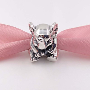Authentic 925 Sterling Silver Beads Lucky Elephant encanto único estilo europeu jóia de Pandora colar pulseiras 791.902 animal