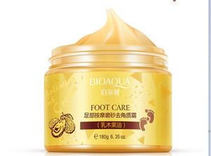 120 pcs bioaqua 24k shrea shea buttermassage creme casca de renovação máscara bebê pés pele suave cuidado creme esfoliante máscara pé