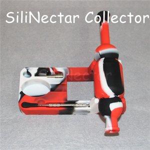 Colorido 10mm Mini Silicone Nectar Coletor kits com 10mm masculino sem dom ti prego nectarcollector silinectar silicone dab palhas