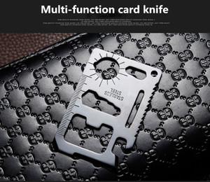 Multi Tools 11 in 1 Multi-funzione di sopravvivenza tasca da tasca militare carta di credito coltello per caccia esterna