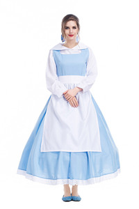 Anime Dress Sissy Maid Uniform Adulti Costumi di Halloween per le donne Costume Party Cosplay all'ingrosso blu PS036