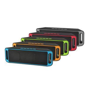 SC208 SC-208 Portable sans fil Bluetooth Haut-parleur Mains-libres USB Flash FM Radio Stéréo Lecteur MP3 Support TF Carte 50pcs / lot