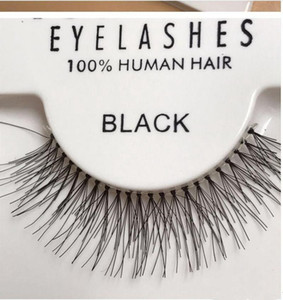 Heißer Verkauf 50 Paare ROTE KIRSCHE falsche Wimpern 100% handgemachte Haar-Streifen Peitsche-Fälschungs-Augen-Peitsche-S M L