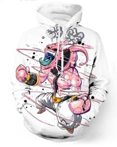 New Fashion Coppie Uomo Donna Unisex Dragon Ball Z Majin Buu 3D Stampa Felpe con cappuccio Felpa Giacca Pullover Top S-5XL T69