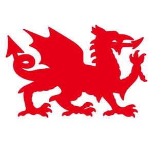 """Handwerk Vinyl Aufkleber Auto Aufkleber Glas Aufkleber Kratzer Aufkleber Wand Die Cut Stoßstange Zubehör Jdm """"Welsh Dragon"""" Wales"""