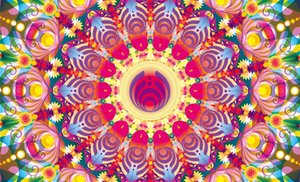 Colorful Kaleidoscope Bassnectar Flag 3ft x 5ft 100D bandiere in poliestere e banner