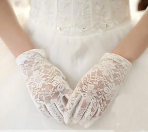 블랙 / 화이트 / 아이보리 / 레드 웨딩 장갑 2017 New Full Finger Bridal Gloves 웨딩 악세사리 Gants Mariage Femme