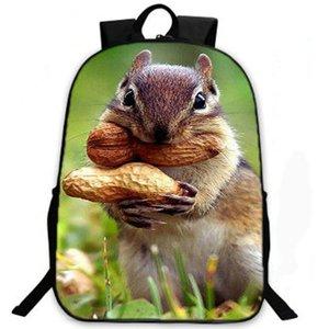 Eatting белка рюкзак милые животные рюкзак Sciuridae школьный досуг рюкзак Спорт школьная сумка Открытый день пакет