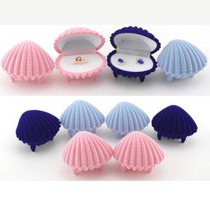 Boîtes à bijoux et emballage Mixte 6.5 * 5.2 * 5cm Boucles d'oreilles / Coffret-cadeau en forme de coquille pour cadeau