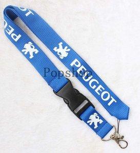Auto Wind PEUGEOT Lanyard Keychain Schlüsselanhänger ID Badge Handyhalter Neck Strap schwarz oder blau.