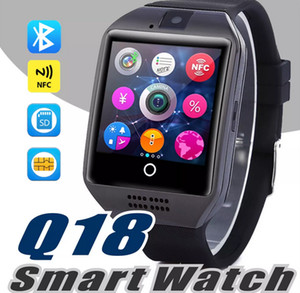Bluetooth smart watch Q18 беспроводные смарт-браслеты NFC Remote camera SIM Card Passometer для ios / android samsung htc lg smart watch SB-Q18