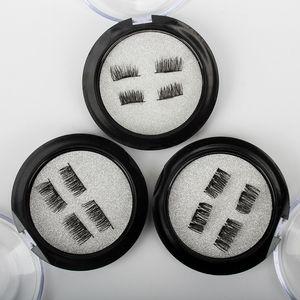 Yüksek Kalite Profesyonel 3D Manyetik Kirpikler Doğal Güzellik Hiçbir Tutkal Kullanımlık Sahte Yanlış Göz Lashes Uzatma El Yapımı