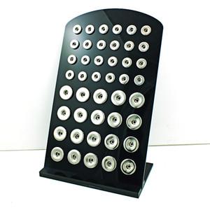 Nouvelle arrivée 18mm 12mm Mix Snap Button présentoirs Mode Noir Acrylique Interchangeable Ginger Snap Bijoux Titulaires Conseil