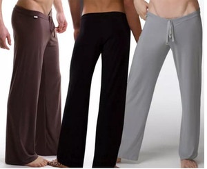 Black Gray Black White Men Sexy Silky Lounge Loose-fitting Baggy Sporting Yoga Pants Pyjama Men Pajamas Sleepwear Trousers