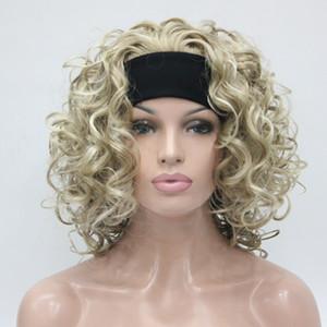 HIVISION Hot super sexy Light Blonde mix 3/4 perruque avec bandeau demi-perruque