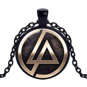 2017 sıcak satış Lincoln Park Band logosu kolye kolye Hayranları takı 25mm Yuvarlak Dome cam kolye el yapımı takı Linkin park