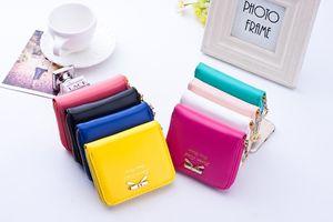 2017 جديد أزياء ملونة سيدة جميلة محفظة مخلب النساء محافظ المحافظ حقيبة صغيرة بو الجلود حامل البطاقة