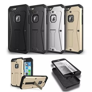 Réservoir Armor Téléphone Case Shell Pour Iphone 7 6 s Plus Samsung Note5 S6 Hybride 3 en 1 Résistant À L'eau Antichoc Support Titulaire Dur Couverture Arrière