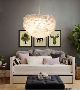 In magazzino bianco piuma lampadario caldo nido di uccello creativo principessa matrimonio camera matrimonio puntelli luci luci postmoderne a LED