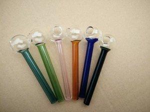 Freies Verschiffen Mini-Pfeife kleine Hand Ölbrenner Im Lager Hookahs kurzes Glas farbigen Burner