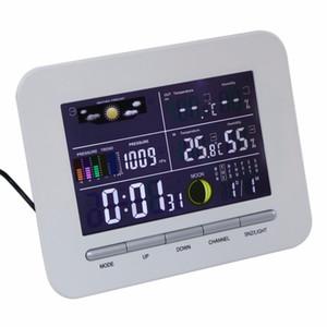 Freeshipping Weather Station 실내 온도계 온도계 습도 고정밀 디지털 무선 컬러 디스플레이 사용 설명서