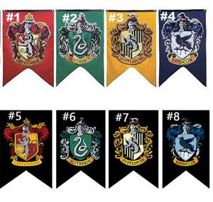 75*125cm Harry Potter Gryffindor Hufflepuff Slytherin Ravenclaw Flag Hogwarts College Flag Home Decor Polyester Banner