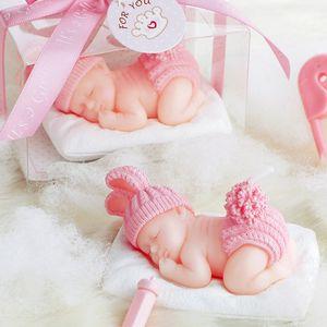 Colore rosa blu Baby Dress Full Moon Cake Smoke-Free candele senza fiamma per la festa di compleanno festa di compleanno forniture regalo