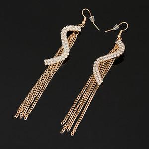 Kostenloser Versand Gold-Silber-Ohrring Art und Weise Ohrring-Schmuck Abend Ohrringe für Kleid Luxus-Ohrringe Frauen Accessoires # E109