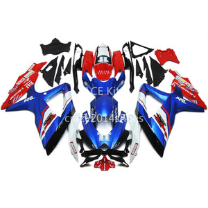 5 free gifts New ABS motorcycle Fairing Kits 100% Fit For SUZUKI GSXR600 750 K8 08-10 GSXR600 GSXR750 2008-2010 nice blue and red nice 164