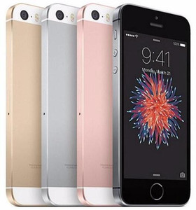 Remodelado Original iPhone SE Desbloqueado Celular Com Toque ID A9 IOS 9.3 4 Polegada Dupla Núcleo 16 GB / 64 GB 4G LTE