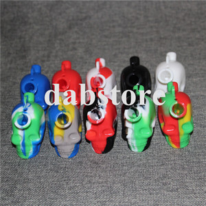 New Skull Travel Mini Bongs The silicone Blunt Bong Bubbler Smoking Bubble Small Water Pipe Small Pipes Hand Pipe
