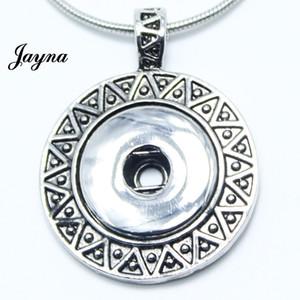 Großhandels- Heißer Verkauf Snap Schmuck Frauen Antique Alloy snaps buttons Anhänger Halskette für snaps buttons Jayna Jewelry GS1203008
