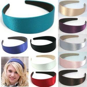 Wholesale- 7 colors WIDE PLASTIC HEADBAND HAIR BAND ACCESSORY WHOLESALE 5pcs/LOTS SATIN HEADWEAR hair clasp hair accessories