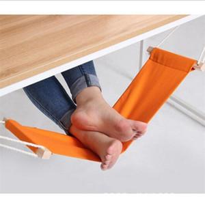 Al por mayor-Portable Office Foot hamaca Mini pies Resto Stand Escritorio Reposapiés Hamac Hangmat Study Table Hang Ocio Silla colgante Naranja