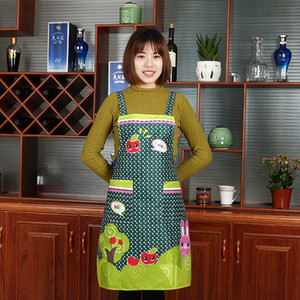 Good A++ New cotton canvas advertising apron cute fruit hood kitchen apron A008 mix order as your needs