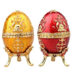 Uovo di Pasqua gioielli faberge scatola gingillo scatola di decorazione d'epoca scatola di metallo artigianato compleanno / regalo di Natale da collezione