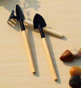 3 قطعة / المجموعة مصغرة حديقة أداة اليد مصنع البستنة مجرفة الخليع مجرفة الخشب مقبض معدني رئيس بستاني