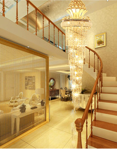 Modern lustres de cristal American Gold Chandelier aparelho de iluminação Warm White Neutral White branco fresco 3 cores Hanging Regulável Lâmpadas