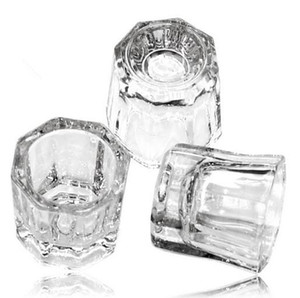 Crystal Tint Bowl Glass Dappen Dish Nail Art Acrylic Liquid Holder Container