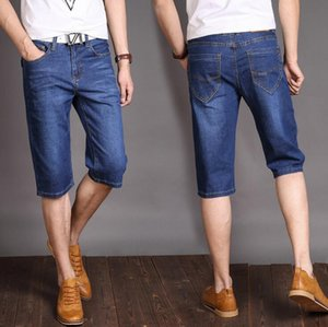 Good A++ Summer tide thin denim straight shorts pants pants MS014 Men's Shorts