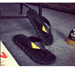 2017 Augen-Monster Sommer Herrenschuhe Flip-Flops für lose sitzende Männer Strand Pantoffeln, Gummi-Flip-Flops im Freien Massage Männer Sandalen A7030101