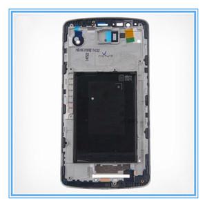 LCD original de apoyo Capítulo para LG G3 D850 D851 d855 embellecedor frontal de la placa frontal Medio de vivienda de reemplazo de piezas Blanco / Negro