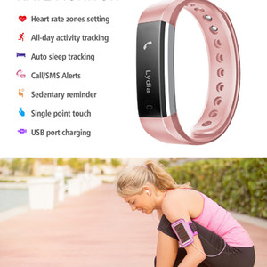 Braccialetto TW64 SE09 plus Smart Heart Rate Band Fitness Activity Tracker Bluetooth 4.0 Bracciale sportivo per IOS Android impermeabile